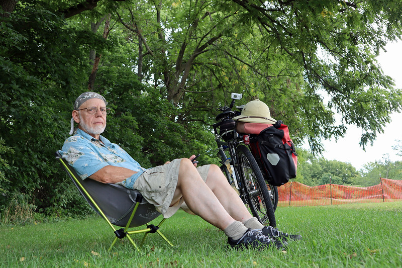 Taking a break at a city park in Mahomet