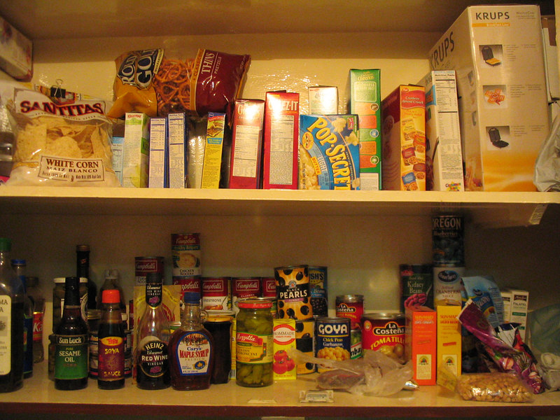 A stocked pantry.  Heaven.  Look at all those American products.