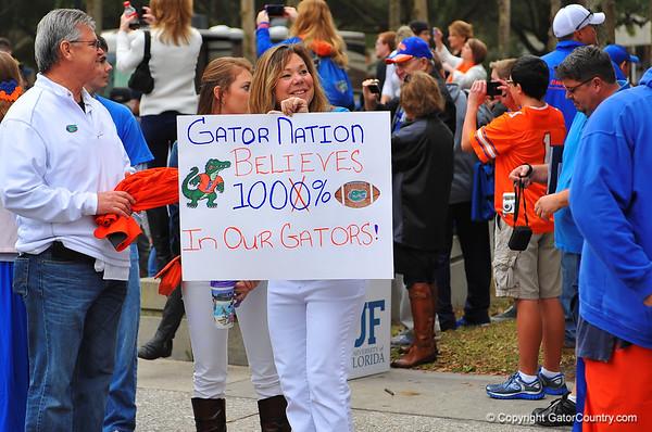 Gators vs FSU Gator Walk 11-30-13