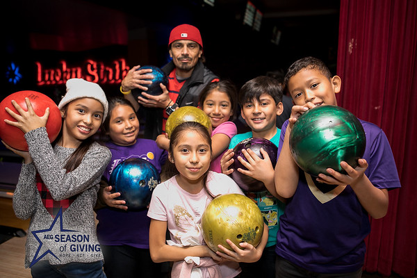 12.12.17 AEG's Season of Giving at Lucky Strike