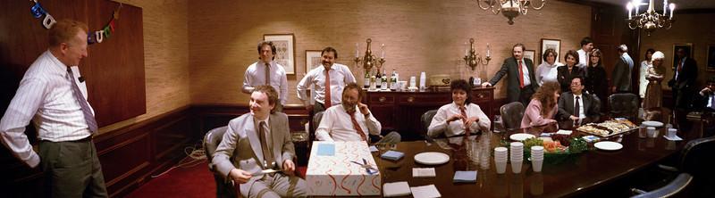 I think this was Einar LeBlanc's sendoff party.  February, 1988.