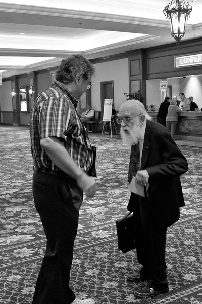 James Randi and friend Thursday, July 12, 2012