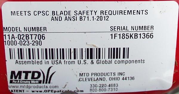 New MTD Mower 08-20-15