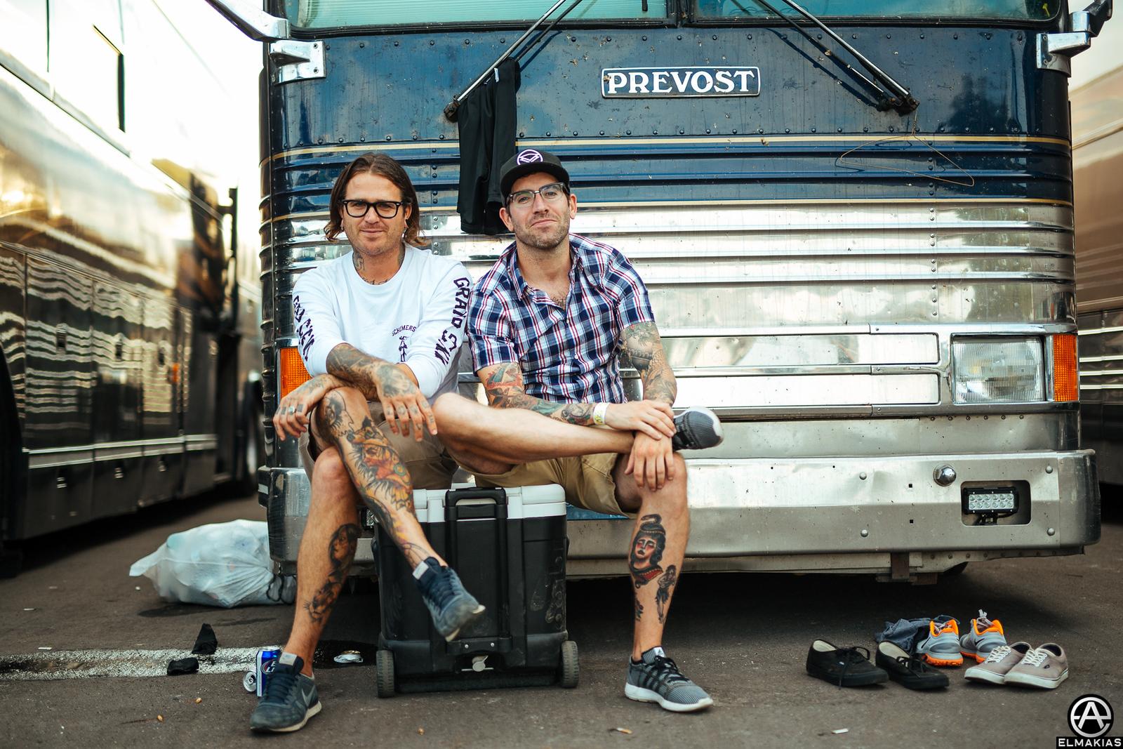 Joel Birch of The Amity Affliction live at Vans Warped Tour 2015 by Adam Elmakias