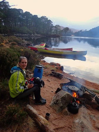 Canoeing and Wild Camping Loch Maree