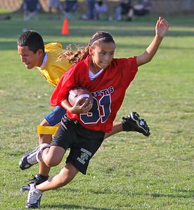 Flag football players