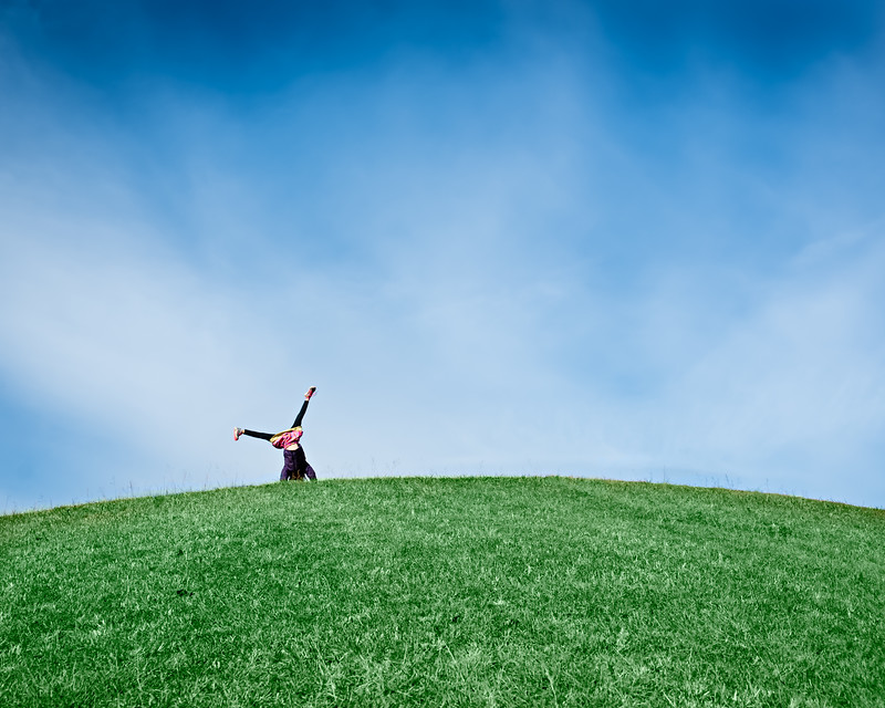 Cartwheel on a Hill