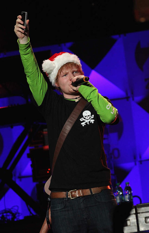 . Ed Sheeran performs onstage during Z100\'s Jingle Ball 2012, presented by Aeropostale, at Madison Square Garden on December 7, 2012 in New York City.  (Photo by Kevin Kane/Getty Images for Jingle Ball 2012)