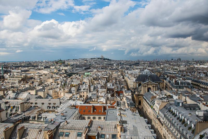 View from Ferris wheel near Louvre