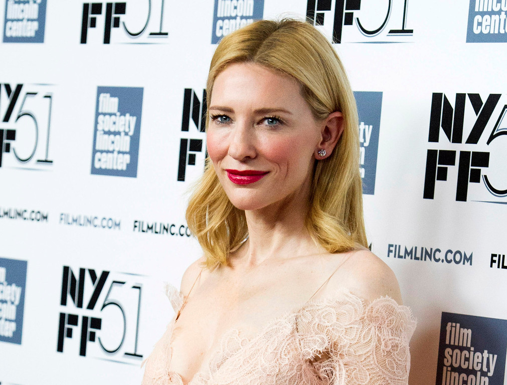 ". 2014 Academy Award Nominee for Best Actress in a Leading Role: Cate Blanchett in ""Blue Jasmine.\"" (Photo by Charles Sykes/Invision/AP, File)"