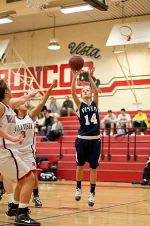 Girls Vista Varsity Basketball vs Bella Vista 11-29-2010