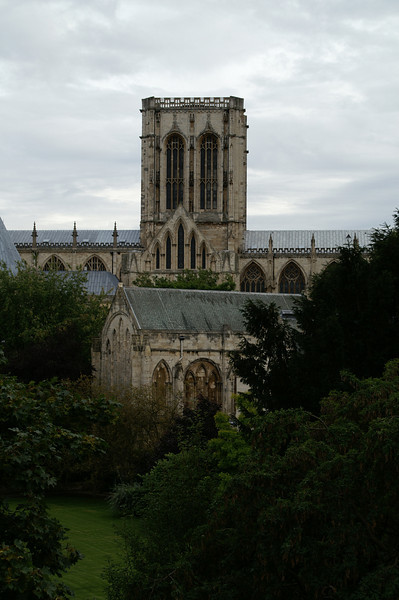 York cathedral on a gloomy day