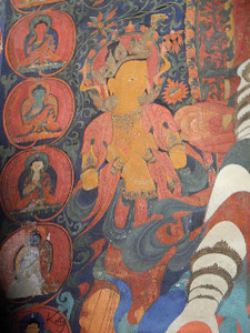 Attendant in Fresco Jampa Gompa.