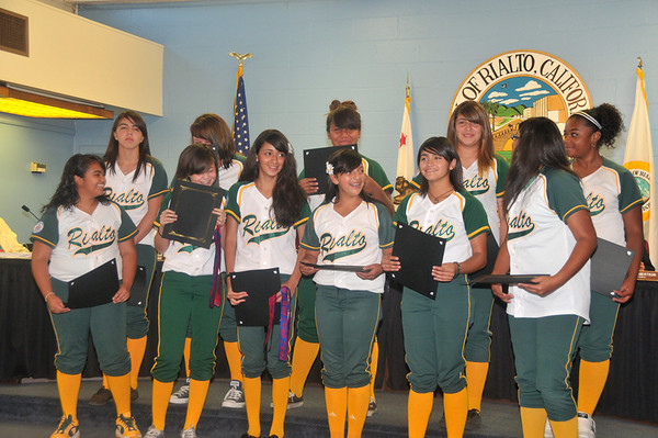 Softball State Champions Honored at City Hall