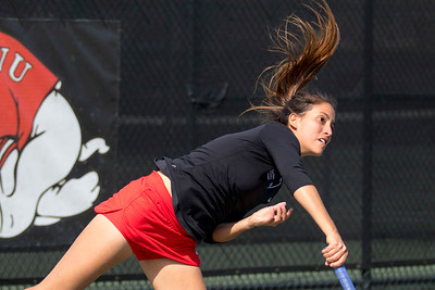 GWU Women's Tennis vs. Campbell March 2017