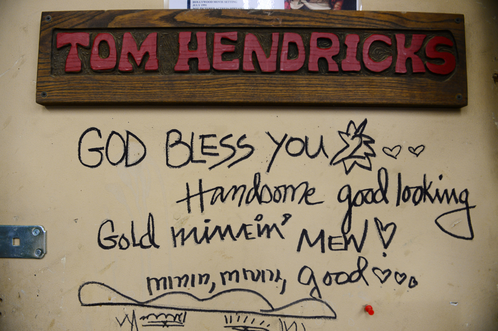 . This is the door to Miner Tom Hendricks\' office at the Cross Mine at Caribou, that was written by the actress Margaux Hemingway when she visited the mine during the filming of a movie in Nederland, Co on January 24, 2014.   (Photo By Helen H. Richardson/ The Denver Post)