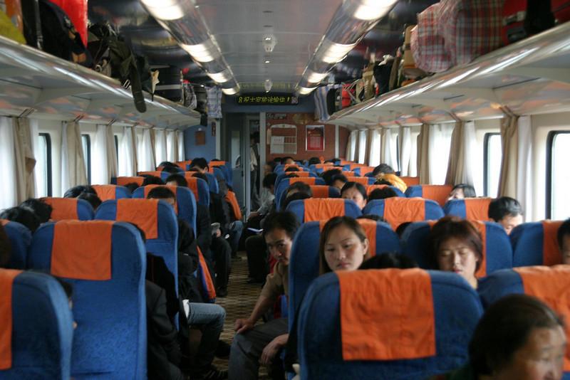 Coach cars, were brand new from railways opening in June 2006, Qinghai -Beijing to Tibet Railway, Beijing to Lhasa  Oct  2006