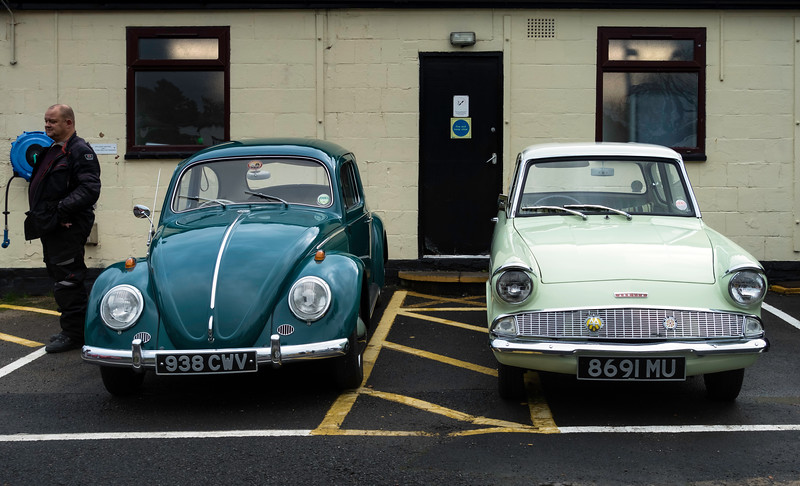 1963 Volkswagen 1200 and 1962 Ford Anglia 105E Deluxe