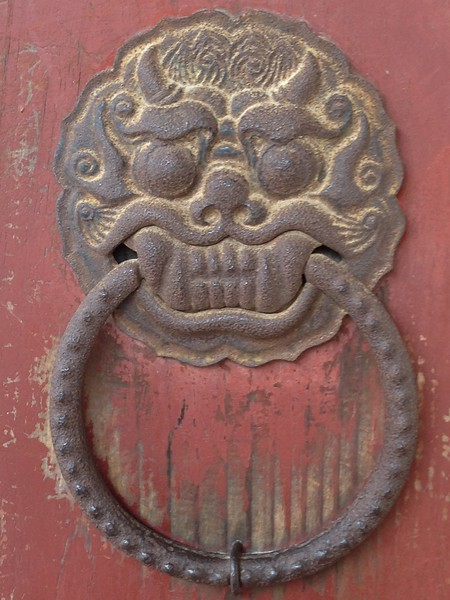 Bulguksa Temple door  detail, Gyeongju, South Korea - Leslie Rowley S95