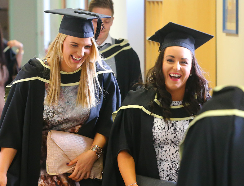 Waterford Institute Of Technology Conferring. Pictured at WIT Waterford Institute Of Technology Conferring are Denise Chester, Dunhill, Co Waterford and Meave Breathnach, Waterford who graduated Masters of Business. Picture: Patrick Browne
