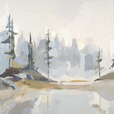"""Sitka-Devine, 40""""X40"""" oil on stretched canvas"""
