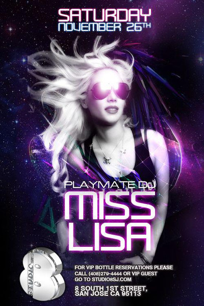 11/26 [Playmate DJ Miss Lisa@Studio 8]