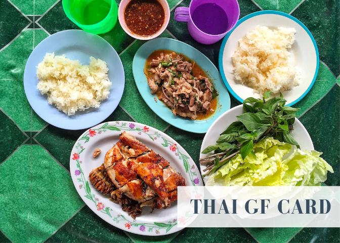 thailand gluten free restaurant card thai