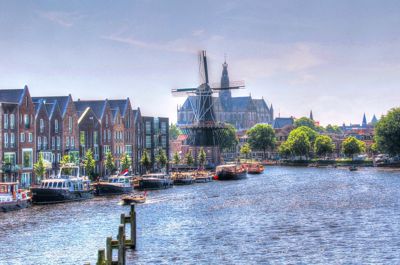 The small town of Haarlem, located 20 minutes north of Amsterdam