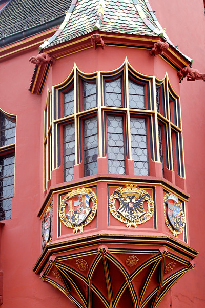 The historical merchants hall on the Münsterplatz in Freiburg