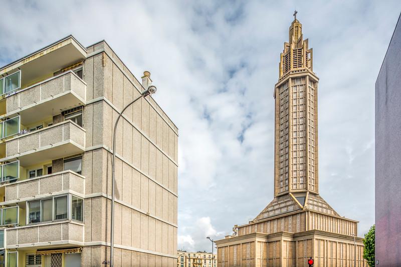 St. Joseph's Church, Le Havre, France, design by Auguste Perret (1951-1958)