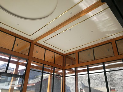 The middle hall of anren new residence is wooden structure安仁新公馆木结构中厅
