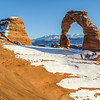 Delicate Arch on the Red Rocks, Arches, Utah, USA