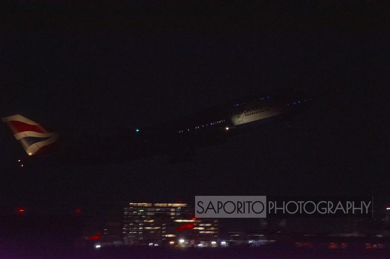 British Airways 747-400 departure