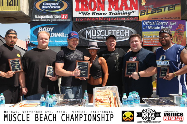09.06.10 MUSCLE BEACH HOT DOG EATING CHALLENGE.  Compliments of Gold's Gym, get your free digital photos from this gallery.