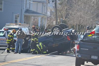Massapequa F.D. Overturned Auto Hicksville Rd & Clark Blvd 3-6-12