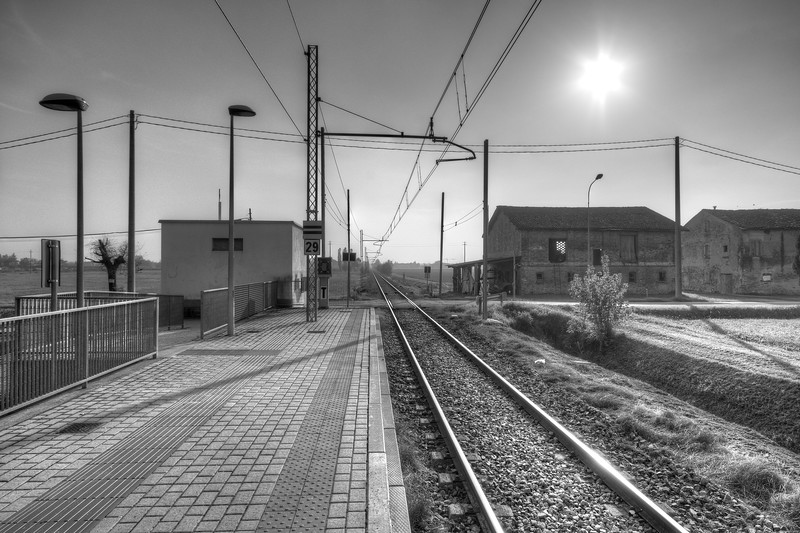 Train Station - Pratofontana , Reggio Emilia, Italy - October 20, 2012