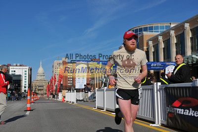 Marathon Runners, Half Way Mark - 2013 Lansing Marathon