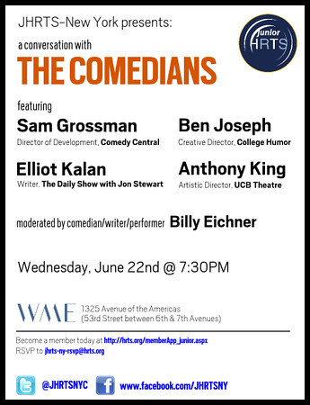 JHRTS-NY A Conversation with The Comedians 6.22.15