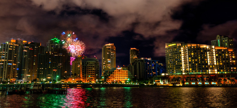 Biscayne Bay New Year Fireworks  http://sillymonkeyphoto.com/2011/01/01/biscayne-bay-fireworks/
