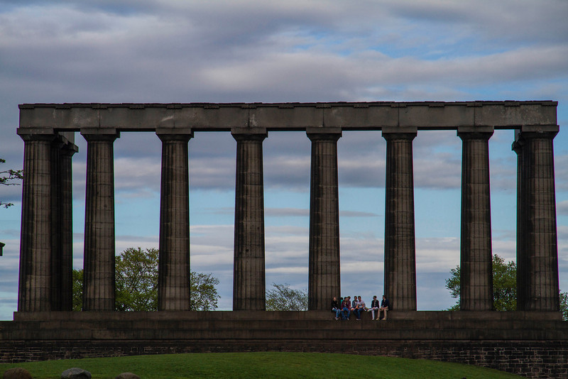 Sunset on Calton Hill in Edinburgh
