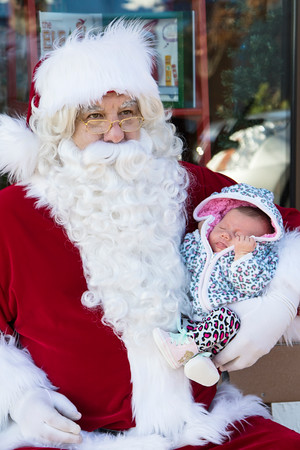 Santa Visits New Glarus 2015