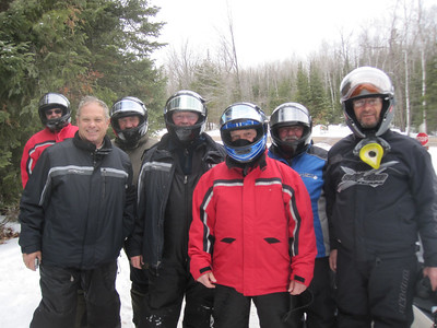 SNOWMOBILING AT EAGANS FEB, 2012