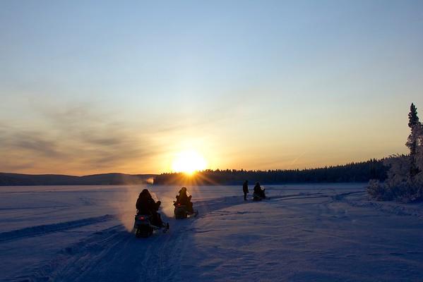 Snöskoter Kiruna