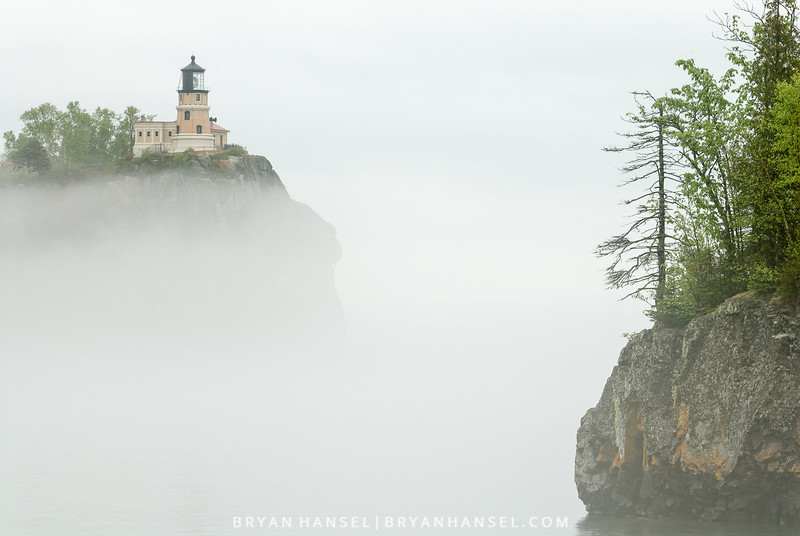 Split Rock Lighthouse and Fog