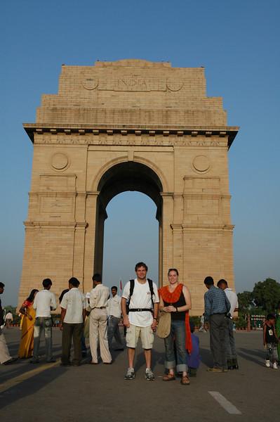 Delhi: Jon Deutsch & Cheryl Deutsch at the India Gate.