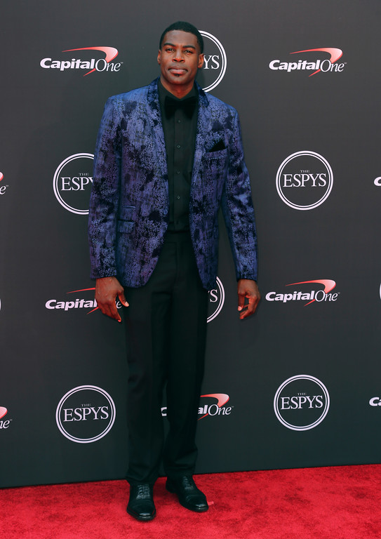 . Sheldon Bailey arrives at the ESPY Awards at Microsoft Theater on Wednesday, July 18, 2018, in Los Angeles. (Photo by Willy Sanjuan/Invision/AP)