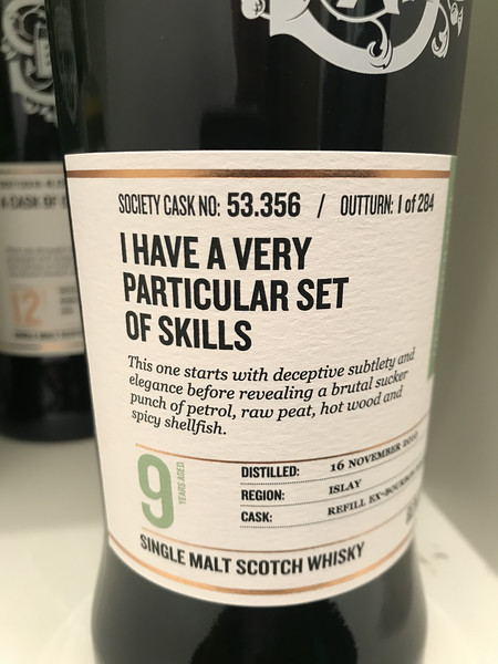"""I have a very particular set of skills"" Caol Ila 9yo bottling 53.356"
