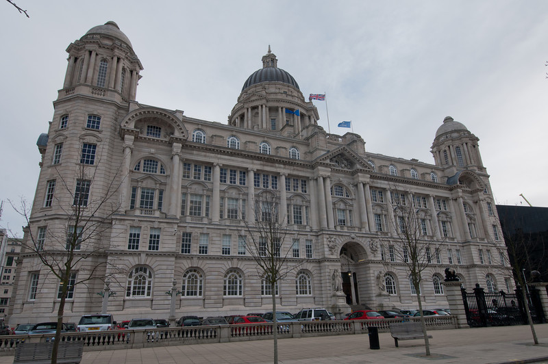 The Port of Liverpool Building, one of Three Graces, in Liverpool - England