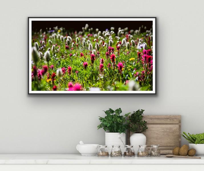 'August Meadows' Fine Art Framed Print Framed/Unframed