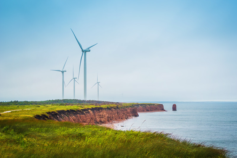 Wind Turbines at North Cape (Prince Edward Island)